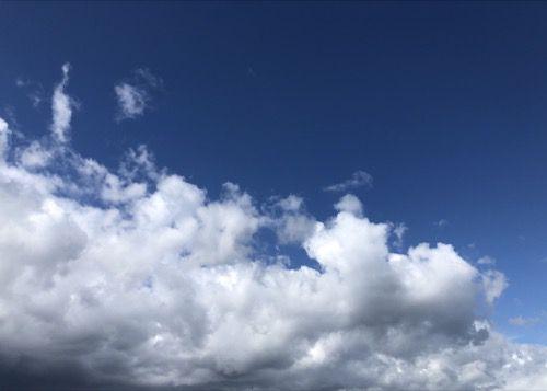 White Cloud Blue Sky Image SK07