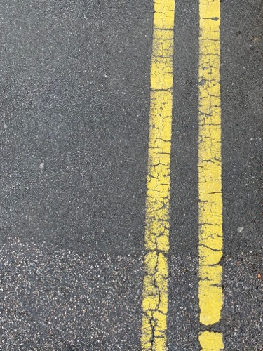 Double Yellow Line Ground Texture GR28