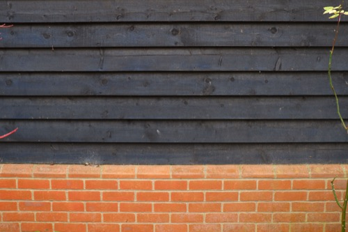 Black Timber Cladding with Brick W42