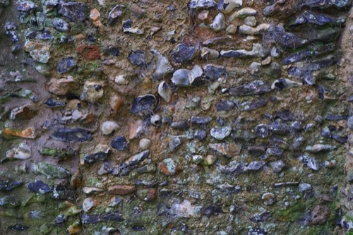 Old Flint Mossy Wall Texture ST54